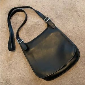 Coach Vintage Black Slim Flap Bag